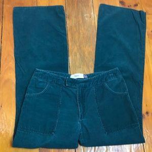 3/$27 Gap Green Corduroy Flare Leg Pants